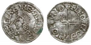 1 Penny Königreich England (927-1649,1660-1707) Silber Aethelred II (968 - 1016)