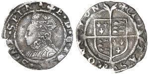 1 Penny Königreich England (927-1649,1660-1707) Silber Elizabeth I (1533-1603)