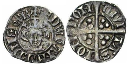1 Penny Königreich England (927-1649,1660-1707) Silber Eduard I (1239 - 1307)
