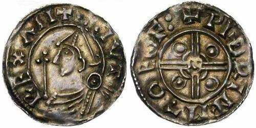 1 Penny Kingdom of England (927-1649,1660-1707) Silver Cnut (985 -1035)