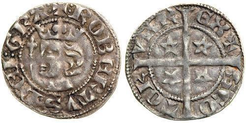 1 Penny Kingdom of Scotland (843-1707) Silver Robert I of Scotland (1274-1329)