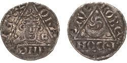 1 Penny Lordship of Ireland (1171-1541) Silver John of England (1167-1216)