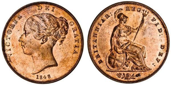 1 Penny 大不列颠及爱尔兰联合王国 (1801 - 1922)  维多利亚 (英国君主)