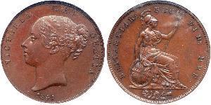 1 Penny Reino Unido de Gran Bretaña e Irlanda (1801-1922)  Victoria (1819 - 1901)