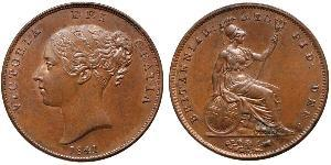 1 Penny Vereinigtes Königreich von Großbritannien und Irland (1801-1922)  Victoria (1819 - 1901)
