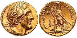 1 Pentadrachm Елліністичний Єгипет (332BC-30BC) Золото Птолемей II Філадельф(309BC-246BC)