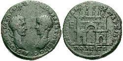 1 Pentassarion Römische Kaiserzeit (27BC-395) Bronze Macrinus  (165-218)