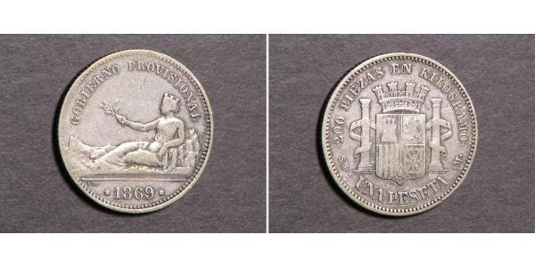 1 Peseta 西班牙第一共和國 (1873 - 1874) 銀