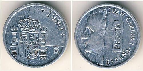1 Peseta Regno di Spagna (1976 - ) Alluminio Juan Carlos I (1938 - )