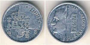 1 Peseta Reino de España (1976 - ) Aluminium Juan Carlos I (1938 - )