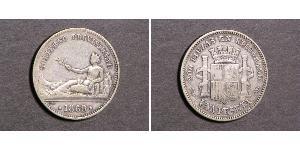 1 Peseta Prima repubblica spagnola (1873 - 1874) Argento