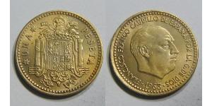 1 Peseta Dictadura de Francisco Franco (1936 - 1975) Bronce