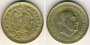 1 Peseta Francoist Spain (1936 - 1975) Bronze/Aluminium Francisco Franco (1892 – 1975)