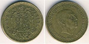 1 Peseta Francoist Spain (1936 - 1975) Bronzo