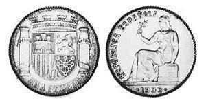 1 Peseta Second Spanish Republic (1931 - 1939) Silver