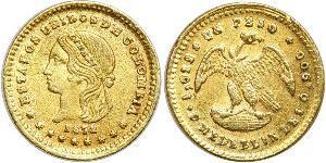 1 Peso 哥倫比亞合眾國 (1863 - 1886) 金