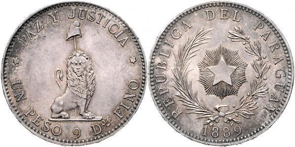 1 Peso 巴拉圭 銀