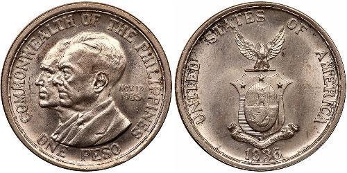 1 Peso 菲律宾 銀