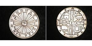 1 Peso Uruguay 銀