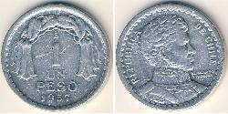 1 Peso Cile Alluminio
