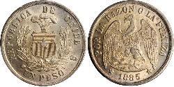 1 Peso Chili Argent