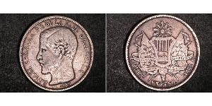 1 Peso Guatemala Argent