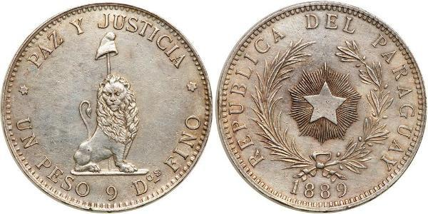 1 Peso Paraguay (1811 - ) Argent