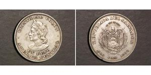 1 Peso Salvador Argent Christophe Colomb (1451 - 1506)