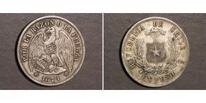 1 Peso Cile Argento