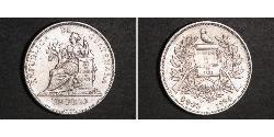 1 Peso Guatemala (1838 - ) Argento