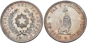 1 Peso Paraguay (1811 - ) Argento