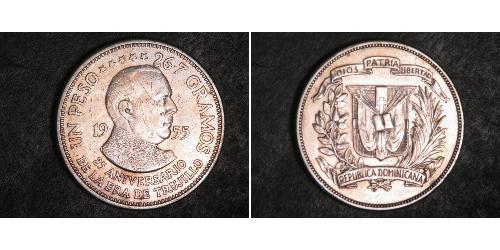 1 Peso Repubblica Dominicana Argento