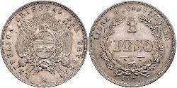 1 Peso Uruguay Argento