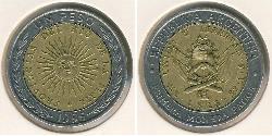 1 Peso Argentine Republic (1861 - ) Bimetal