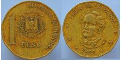1 Peso Dominican Republic Copper/Zinc