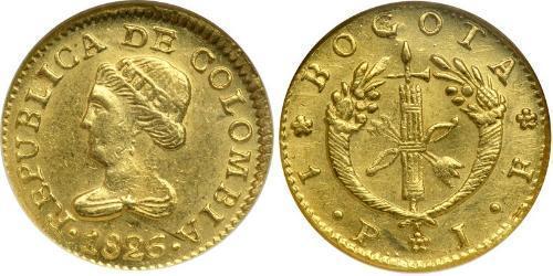 1 Peso Großkolumbien (1819 - 1831) Gold