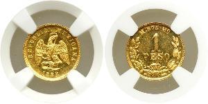 1 Peso Mexiko (1867 - ) Gold
