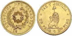 1 Peso Paraguay (1811 - ) Gold