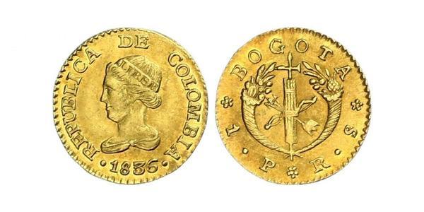 1 Peso Republic of Colombia (1819 - 1831) Gold