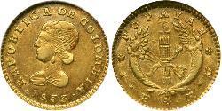 1 Peso Republic of New Granada (1831–1858) Gold