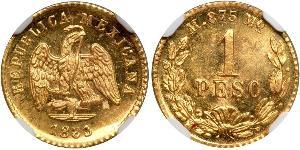 1 Peso United Mexican States (1867 - ) Gold