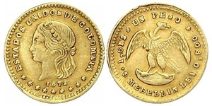 1 Peso United States of Colombia (1863 - 1886) Gold
