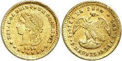 1 Peso Vereinigte Staaten von Kolumbien (1863 - 1886) Gold