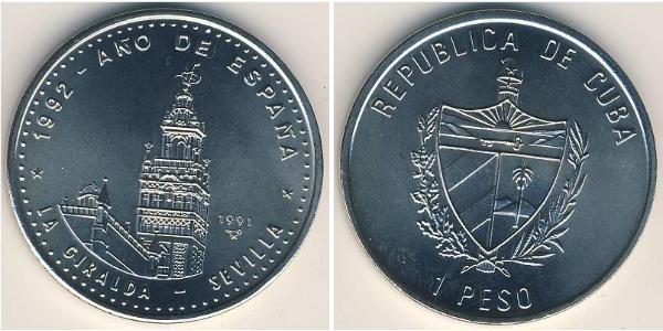 1 Peso Kuba Kupfer/Nickel