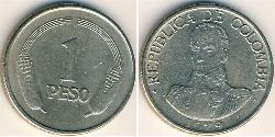 1 Peso Republik Kolumbien  (1886 - ) Kupfer/Nickel