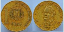 1 Peso Dominikanische Republik Kupfer/Zink