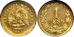 1 Peso Mexique (1867 - ) Or