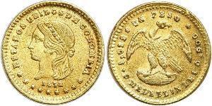 1 Peso Estados Unidos de Colombia (1863 - 1886) Oro