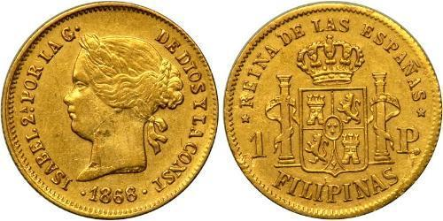 1 Peso Filipinas Oro Isabella II of Spain (1830- 1904)
