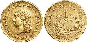 1 Peso Stati Uniti di Colombia (1863 - 1886) Oro